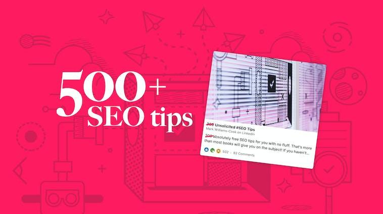 500+ seo tips
