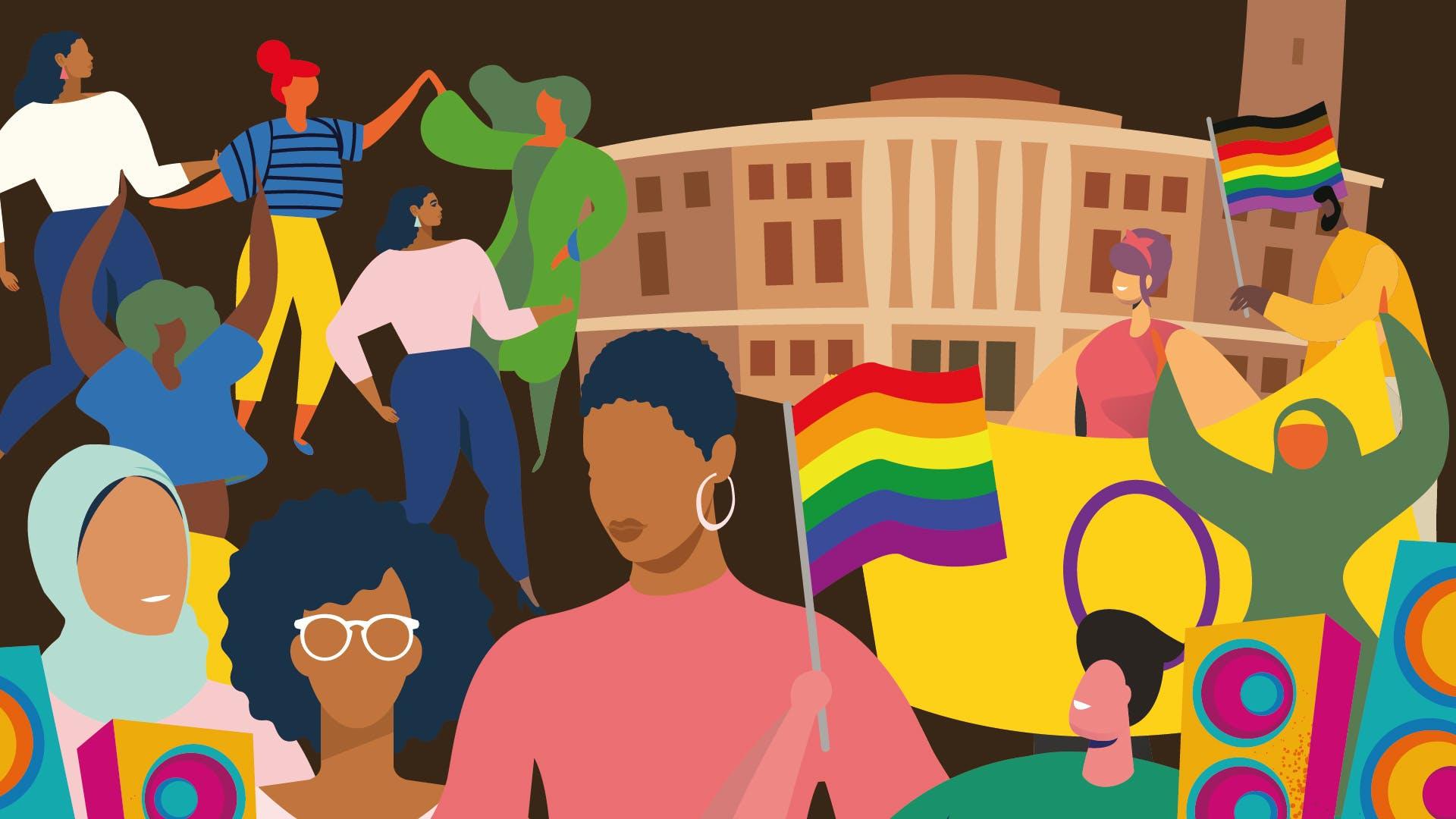 norwich pride illustration