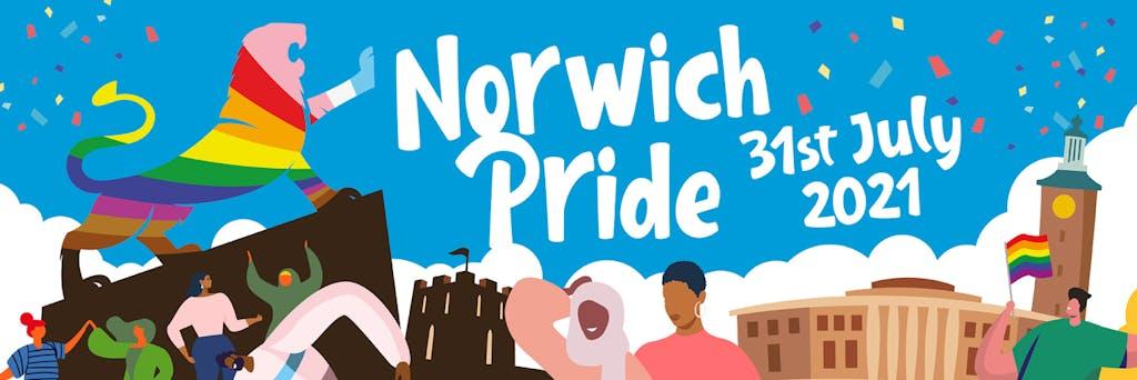 Norwich Pride 2021 illustration