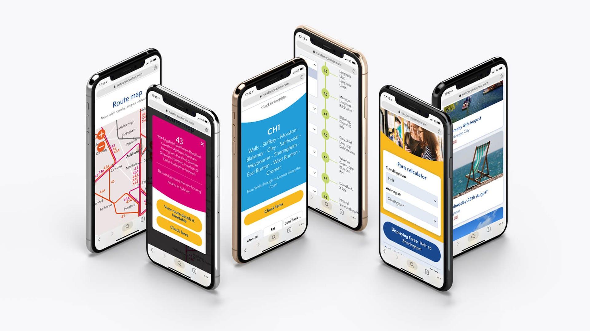 mobile views of sanders website