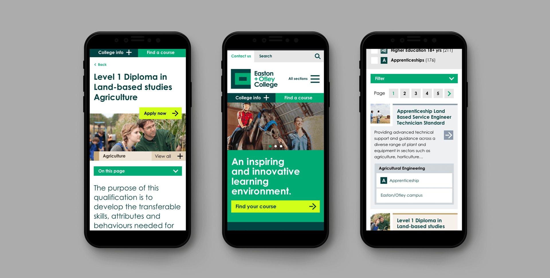 Three mobile visuals